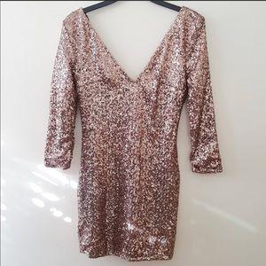 Windsor Rose Gold Bodycon Dress